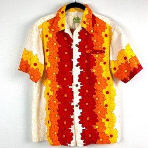 Vintage 60s Ui Maikai Aloha Hawaiian Bark Cloth S
